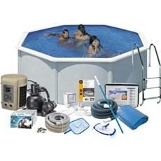 Swim&Fun Pool - DELUXE 132 Ø350 CM HVID