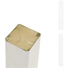 Plus Stolper - Stolpe Omlimet 7x7 cmTrykimprægneret grundmalet hvid 208cm