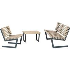 PLUS Havemøbelsæt - Siesta Loungesæt 2 Sofa, stol
