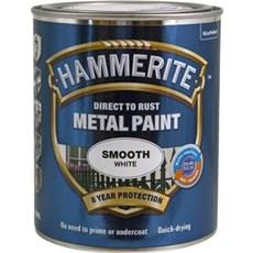 Hammerite Metal- og Træmaling - Glat Hvid HVID 750 ML