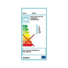 Eglo Spotlampe - FUEVA 1 - LED LOFTSLAMPE - HVID RUND - Ø30 CM