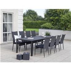 Outrium Havemøbelsæt - Toscana Toledo 8 stole