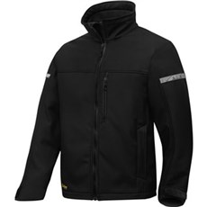 Snickers Workwear Softshell - ALLROUNDWORK JAKKE 1200 Str. M Sort