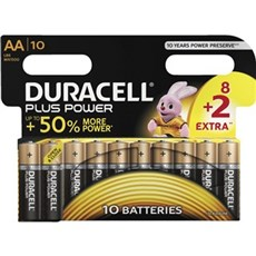 Duracell AA batterier - Plus Power AA CP 8+2 pk