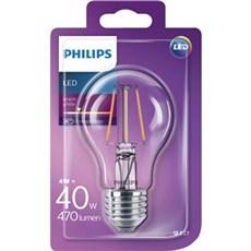 Philips LED - LEDClassic 40W A60 E27 WW CL ND 1BC/4