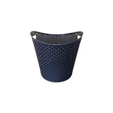 Plast1 Plastkurv - Rattan kurv, rund, 27 ltr, sort