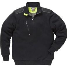 Kansas Sweatshirt - Strikket sweater med lynlås Str. L Sort