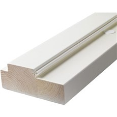 Swedoor Karmsæt - 128 mm +karm hvid 886X2089 mm/9x21