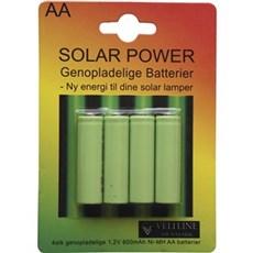 VELI LINE AA batterier - SOLAR BATTERI AA 4-PAK