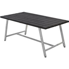 PLUS Havebord - ROYAL BORD 87x73x177 CM SORT