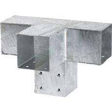 PLUS Tilbehør hegn - CUBIC Forlængerbeslag Dobbelt 30,5x20x20 cm /Hulmål 9x9 cm inkl. skruer Varmgalvaniseret