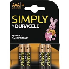 Duracell AAA batterier - Simply AAA 4pk