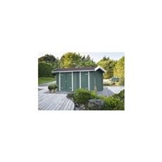PLUS Træredskabsskur - Multi Lux redskabsrum m/saddeltag - 9,8 m² - ubehandlet