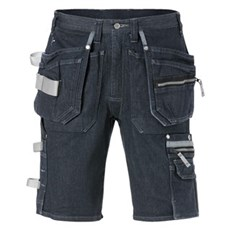 Kansas Arbejdsshorts - GEN Y DENIM STRETCH SHORTS C48 - Indigoblå