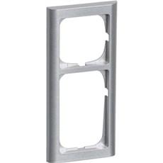 LK FUGA® Ramme - SOFTLINE 63 ramme 2½ modul Stålmetallic