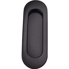 Svalk Skydedørsbeslag - RETRO sort oval skydedørsskål