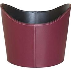 Varde Ovne Brændekurv - Kurv i læderlook, rød/sort/grå