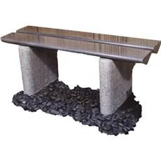 P&N Granitbænk - Triangel SORT OG GRÅ 40X40X110 CM