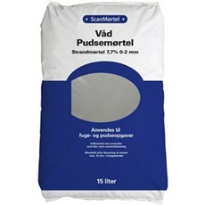 Scan Mørtel - Våd pudsemørtel 7,7% 0,2mm 15 ltr