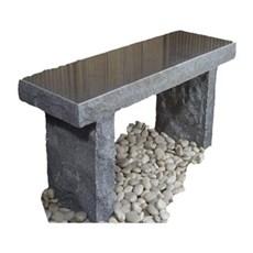 P&N Granitbænk - GRANITBÆNK Grå/sort granit 30x44x75CM