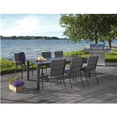 Outrium Havemøbelsæt - Toscana Bordeaux 6 stole