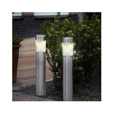VELI LINE  Solcellelampe - Solar Steel Line. 2 pak