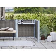 Plus Vedligeholdelsesfrit hegn - Cubic Rammehegn Polyrattan 90x90 cm