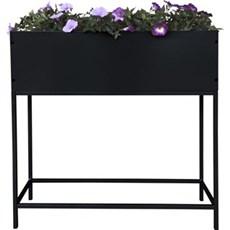 Gardenlife Plantekasse - Blomsterkasse, sort på ben