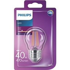 Philips LED - LEDClassic 40W P45 E27 WW CL ND 1BC/4