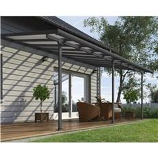 Palram Terrasseoverdækning - Feria terrasseoverdækning sampak 18,1 m2, antracitgrå
