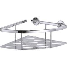 Tesa® Hjørnehylde - Aluxx hjørnekurv single 92x250x125 mm FORKROMET