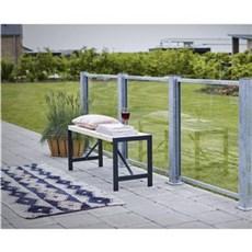 PLUS Hegn nem vedligehold - Glashegn med ramme 90x90 cm