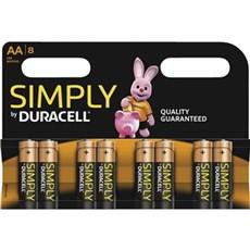 Duracell AA batterier - Simply AA 8PK