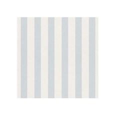 Rasch Tapet - Striber Blå Lys og Hvid