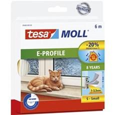 Tesa® Tætningslister - tesamoll® E-Profil Hvid  9MMx6M