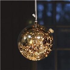 VELI LINE Dekorativ jul - Glassball. � 20cm Lysk�de med 60 led