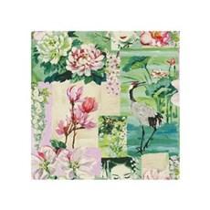 Rasch Tapet - Eksotisk Blomst & Fugl