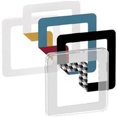 LK FUGA® Stikkontakt - CHOICE designramme 1M Transp.+ 6 farvevalg