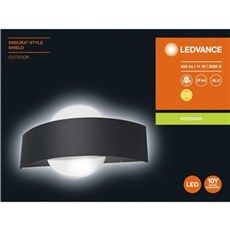 LEDVance Lysarmatur - ENDURA STYLE SHIELD BLACK 11 W 240 mm