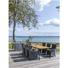Outrium Havem�bels�t - Living akacie bord/6 sorte Malaga stole