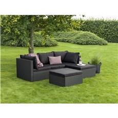 Outrium Havemøbelsæt - Nantes sofasæt sort