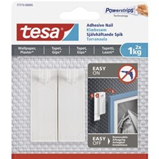 Tesa® Smart ophængningssystem - Klæbesøm til tapet og gips Til 1 kg