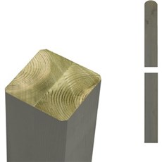 PLUS Stolper - Trykimprægneret gråbrun omlimet 7x7 cm