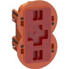LK FUGA® Stikdåse - AIR SLIM forfradåse  2 modul Orange