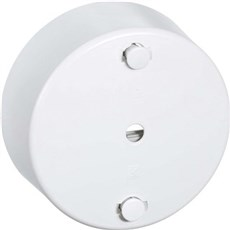 LK FUGA® Clipsrosette - Lampeudtag Clipsroset Ø80 mm hvid HVID