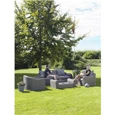 Outrium Havemøbelsæt - Amalfi sofasæt inkl. bord og hynder
