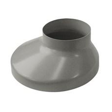 Plastmo Plast tagrende - Brøndkrave Grå 75/130 MM