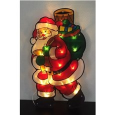 VELI LINE Dekorativ jul - Santa window light 45x25 cm.