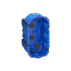 LK FUGA® Stikdåse - AIR forfradåse  2 modul Blå
