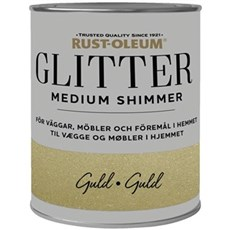 Rust-Oleum Vægmaling - Glitter Medium Shimmer Gold  750 ml.